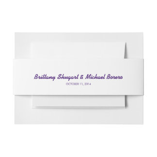 Rustic Lights Purple Belly Band Invitation Belly Band