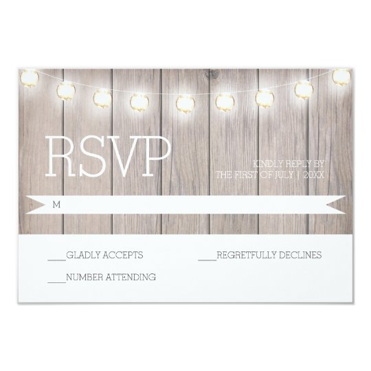 Rustic Lights - RSVP Card
