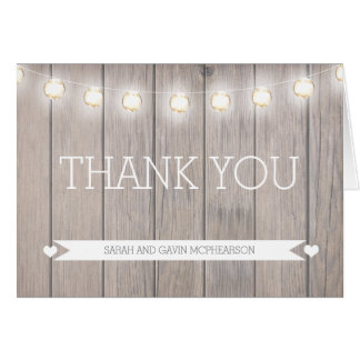 Rustic Lights Thank You Note Card