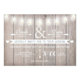 Rustic Lights Wedding Invitation