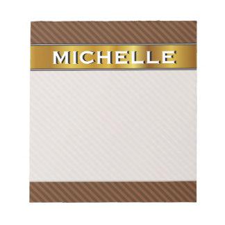 Rustic-Like Dark Brown & Lighter Brown Stripes Notepad