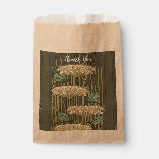 Rustic Lilypad Art Deco Thank You Favour Bags