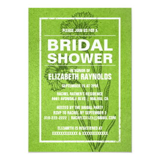 Rustic Lime Green Bridal Shower Invitations