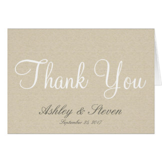 Rustic Linen Simple Elegance Thank You Card