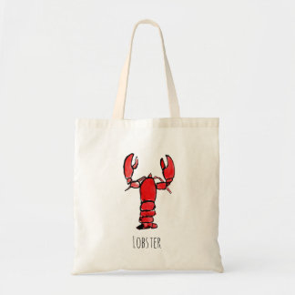 Rustic Lobster Watercolor Tote Bag