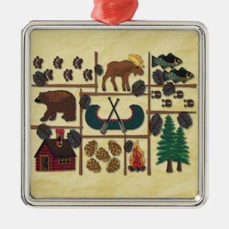 Rustic Lodge Country Cabin Christmas Christmas Ornament