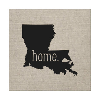 Rustic Louisiana Home State Wrapped Canvas Art