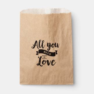 Rustic Love Black Wedding, Bridal Shower, Party Favour Bags