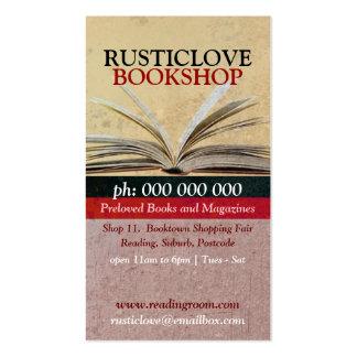 Rustic Love BookShop Literature Business Card