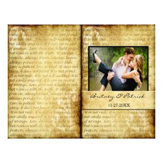 Rustic Love is Patient Wedding Ceremony Programs 21.5 Cm X 28 Cm Flyer