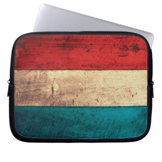 Rustic Luxembourg Flag Computer Sleeves