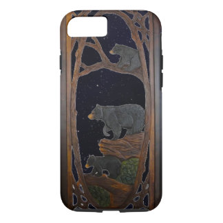 Rustic, Mama Bear and Cubs iPhone 7 Case