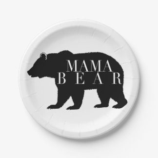 Rustic Mama Bear | Baby Shower Paper Plate