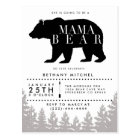 Rustic Mama Bear | Baby Shower Postcard