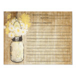 Rustic Mason Jar and Wildflowers   Recipe 11 Cm X 14 Cm Invitation Card