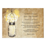 Rustic Mason Jar and Wildflowers Wedding 13 Cm X 18 Cm Invitation Card