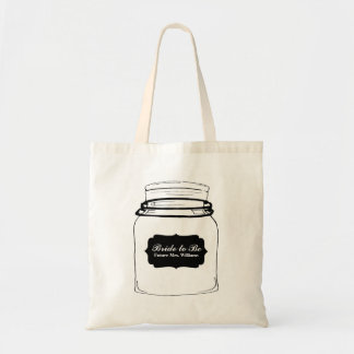 Rustic Mason Jar Bridesmaid Tote Bag