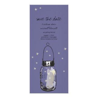 Rustic Mason Jar & Fireflies Save the Date Invitations