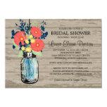 Rustic Mason Jar Gerber Daisies Bridal Shower 13 Cm X 18 Cm Invitation Card
