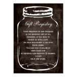 rustic mason jar Gift registry  Cards Pack Of Chubby Business Cards