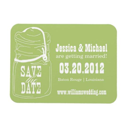 Rustic Mason Jar Save the Date Rectangular Photo Magnet