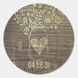 Rustic Mason Jar Wedding Stickers