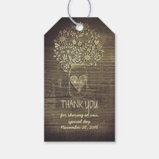 Rustic Mason Jars Barn Wedding Thank You