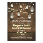rustic mason jars with lights engagement party personalized announcement