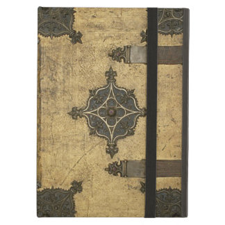 Rustic Medieval Leather Book Cover Design iPad Air Covers