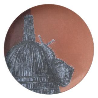 Rustic Melamine Plate