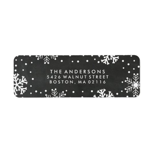 Rustic Merry and Bright   Holiday Return Address Label