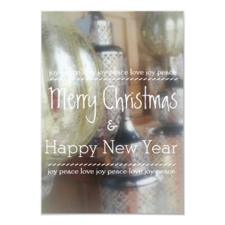 Rustic Merry Christmas & Happy New Year Cards 9 Cm X 13 Cm Invitation Card
