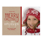 RUSTIC MERRY CHRISTMAS | HOLIDAY PHOTO POSTCARD