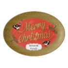 Rustic Merry Christmas Mason Jar Serving Platter
