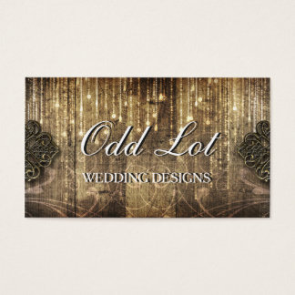 Rustic Metal and Wood Wedding Planner BusinessCard Business Card