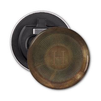 Rustic metal H monogram bottle opener
