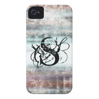 Rustic Metal Horizon Monogram iPhone 4/4s Case
