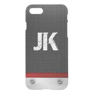 RUSTIC METAL MONOGRAM WITH NAILS AND PATTERN iPhone 7 CASE
