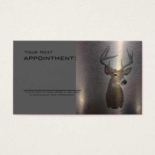 rustic metal texture western country deer business card