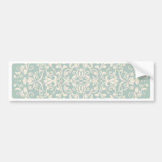 rustic,mint,vintage,damasks,shabby chic,victorian, bumper sticker