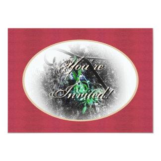 Rustic Mistletoe Yule Winter Solstice Christmas 11 Cm X 16 Cm Invitation Card