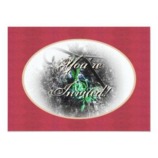 Rustic Mistletoe Yule Winter Solstice Christmas 14 Cm X 19 Cm Invitation Card