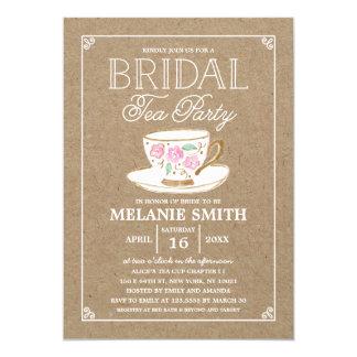 Rustic Modern Bridal Tea Party | Bridal Shower 13 Cm X 18 Cm Invitation Card