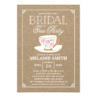 Rustic Modern Bridal Tea Party | Bridal Shower Card