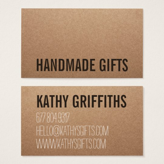 Rustic modern brown kraft paper handmade cardboard business card rustic modern brown kraft paper handmade cardboard business card reheart Image collections