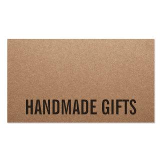 Rustic modern brown kraft paper handmade cardboard pack of standard business cards
