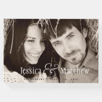 Rustic Modern Photo Wedding Guest Book
