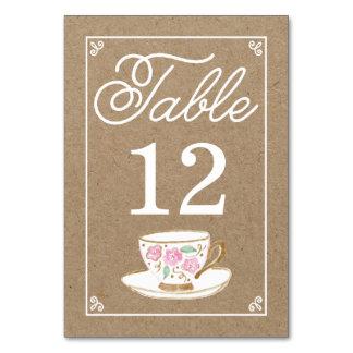 Rustic Modern Teacup Table Number