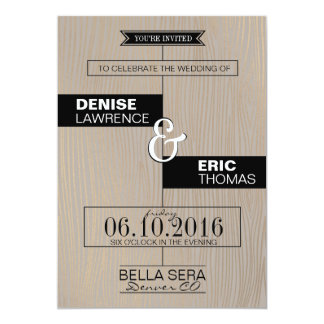 Rustic Modern Wedding Invitation