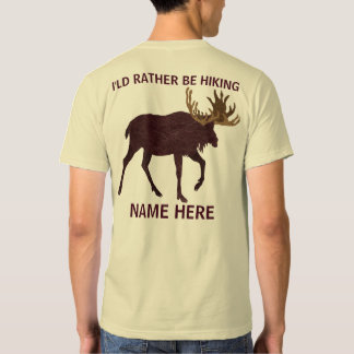Rustic Moose Faux Leather-Look Rather Be Hiking Shirts
